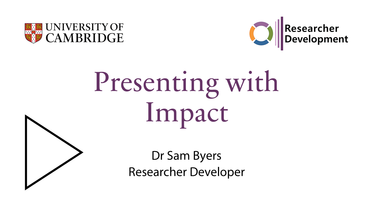 Talk by Sam Byers on presenting with impact